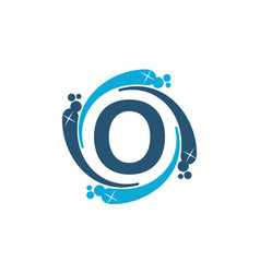 Water clean service abbreviation letter o vector