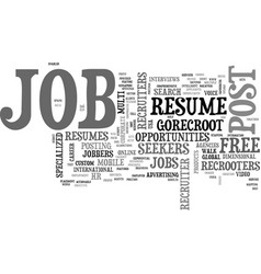 what is in it for me the jobbers job seekers text vector image