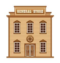 Wild West general store vector image