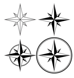 wind rose compass navigation sign vector image