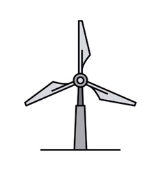 Windmill isolated icon design vector