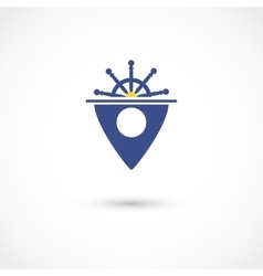 Yacht club tag vector