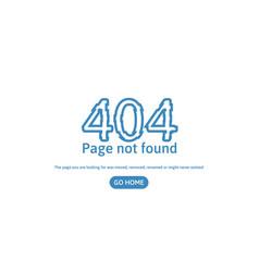 404 error page not found error concept page vector image vector image