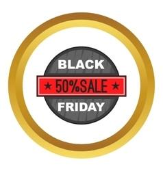 Black Friday 50 off icon vector image