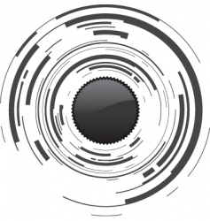 camera dot vector image vector image