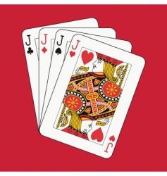 jacks poker vector image
