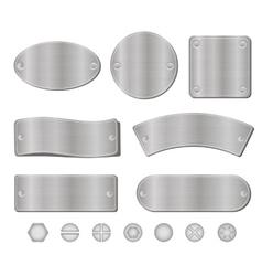 Metal plates set vector image