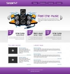 music website vector image vector image