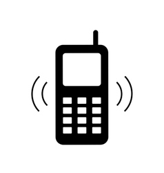 Phone sign 1807 vector image