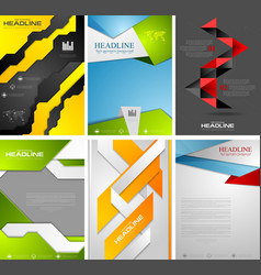 Set of bright tech flyer templates design vector image vector image