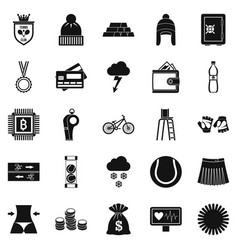 sports on the beach icons set simple style vector image