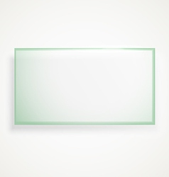 Square advertising glass board vector image vector image