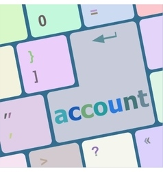 white account enter key vector image