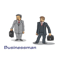 Cartoon businessman characters vector image