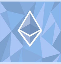cryptocurrency ethereum concept vector image vector image