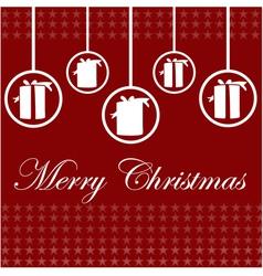 Elegant Christmas card design vector image