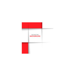 Geometric red 3D background vector image