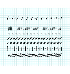 Hand-drawn doodle borders vector image