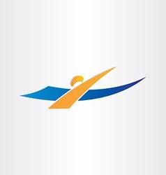 man swimming icon swimmer vector image