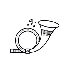 post horn musical instrument baby toy vector image