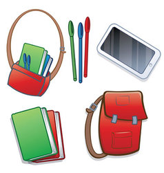 Student school or college items vector image