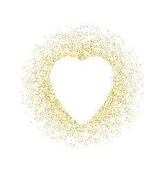 Valentines day greeting card gold sparkles vector image