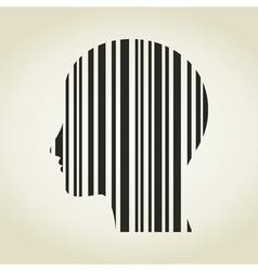 Head stroke a code vector image vector image