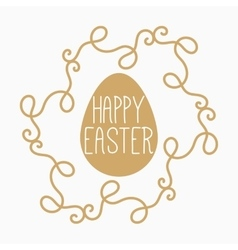 yellow or gold easter egg vector image vector image