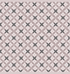 geometric pattern on pink background vector image vector image