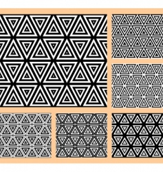 geometric patterns set vector image