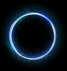 Glittering star dust circle vector image vector image