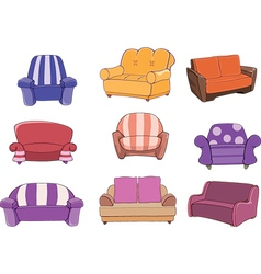 Set of chairs and armchairs vector image