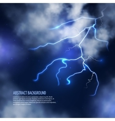 Thunderstorm with clouds and lightnings vector image
