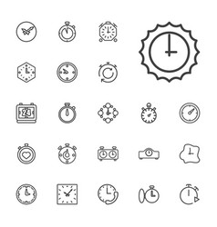22 second icons vector