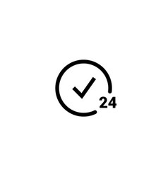 24 hour icon clock service day hour vector image