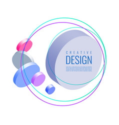 Abstract 3d mixing of colors and lines vector