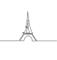 abstract eiffel tower sketch vector image