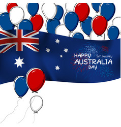 australia day design on white background vector image
