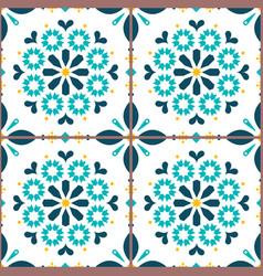 azulejo lisbon tiles seamless pattern vector image