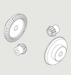 Bevel gear vector