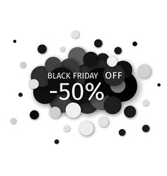black friday sale discount creative banner design vector image