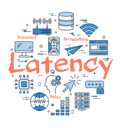 Blue concept of latency vector
