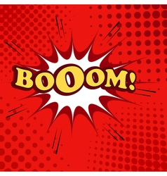 Boom comic cartoon vector image