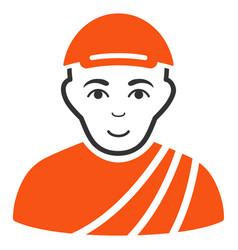 Buddhist monk icon vector