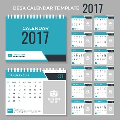 Calendar template for 2017 year vector image