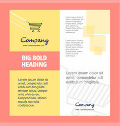 cart company brochure title page design company vector image