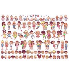 cute cartoon kids child vector image