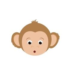Cute mokey cartoon vector