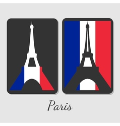 Eiffel tower magnet design vector