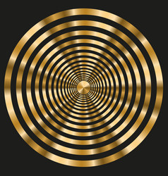Elegant frame with gold concentric circles on vector